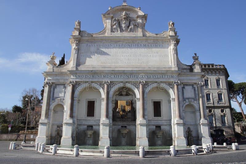 El dell'Acqua Paola de Fontana en Roma imagen de archivo libre de regalías