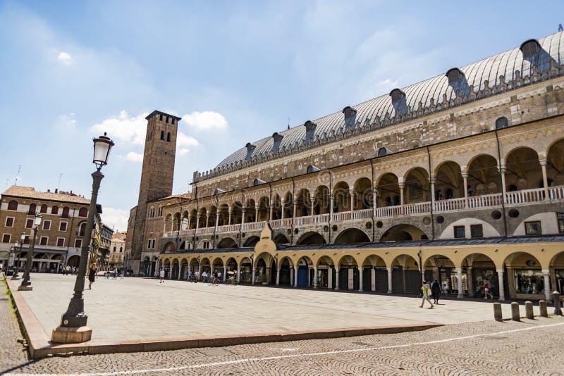 El della Ragione de Palazzo en Padua imágenes de archivo libres de regalías