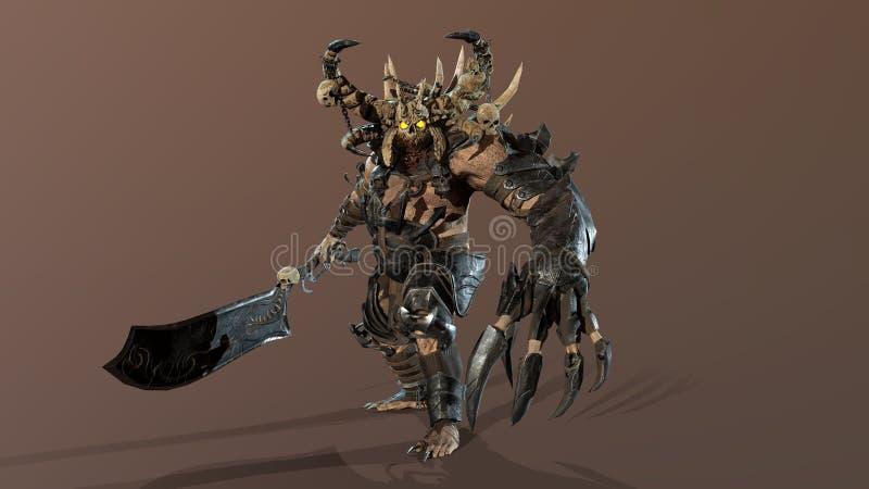 El demonio 3d rinde libre illustration