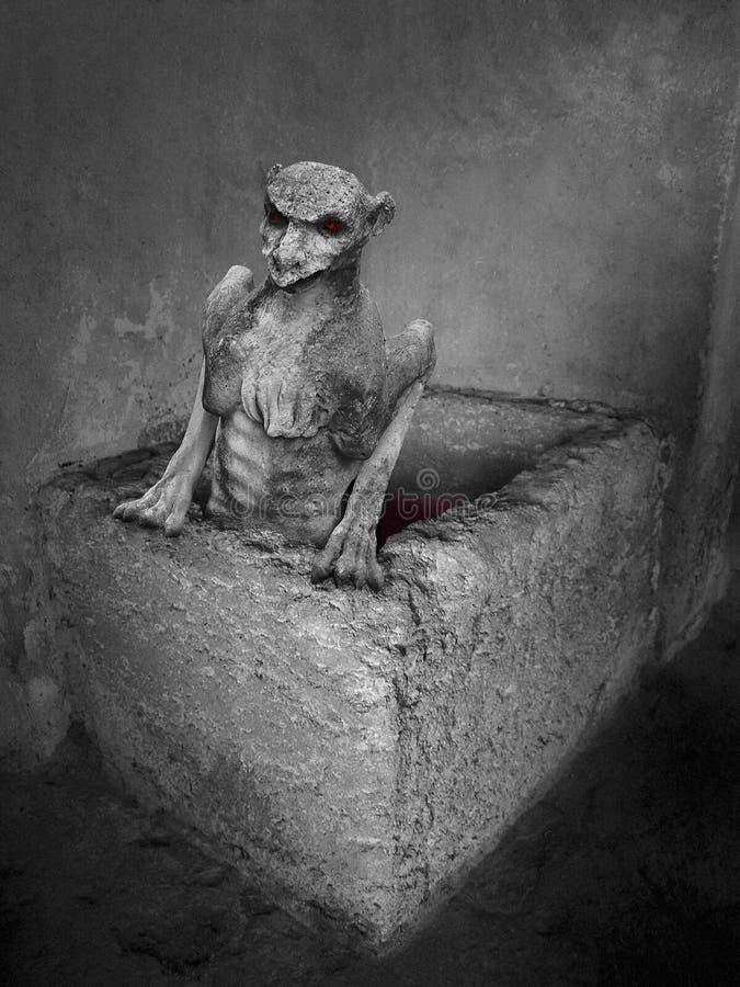 El demonio gótico fotografía de archivo libre de regalías