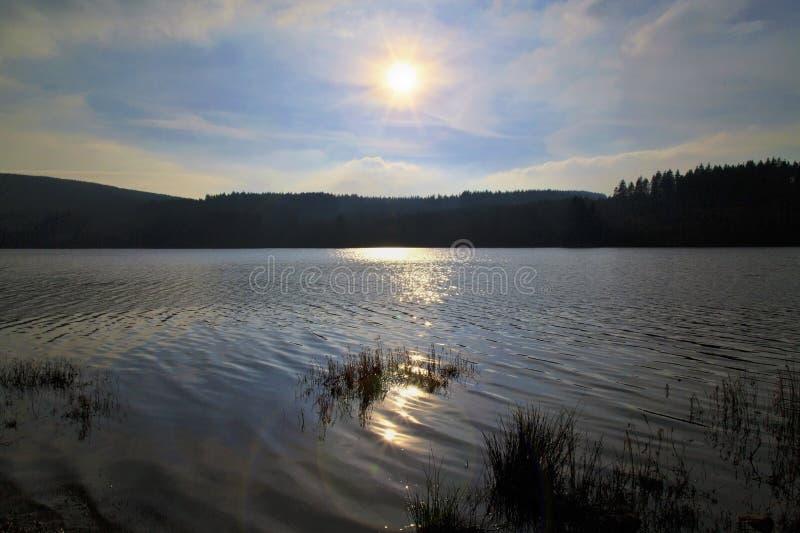 El depósito de Llyn On, Nant-ddu, Brecon baliza el parque nacional foto de archivo libre de regalías