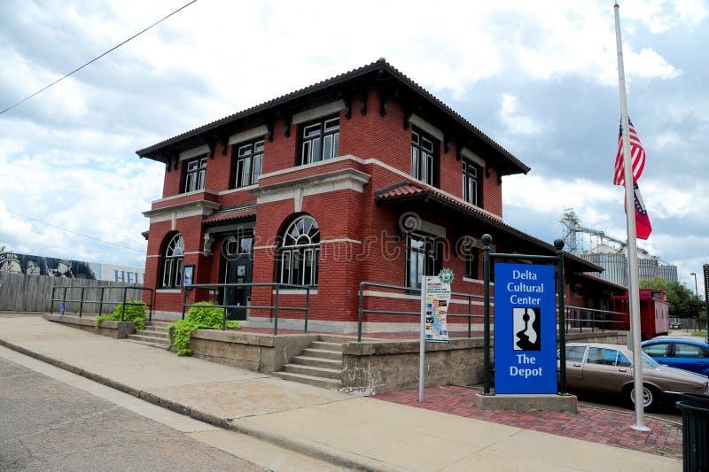 El depósito de tren de centro cultural del delta, Helena Arkansas imagen de archivo libre de regalías
