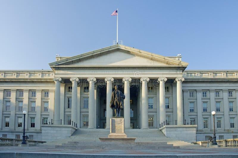 El departamento del Tesoro imagenes de archivo