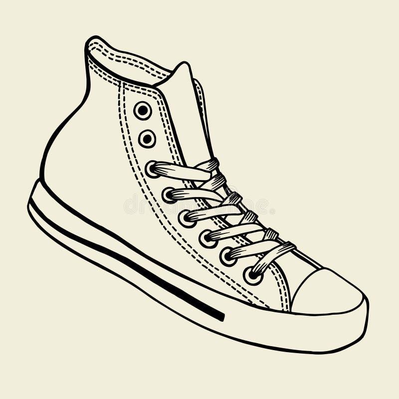 El deporte calza bosquejo ilustración del vector