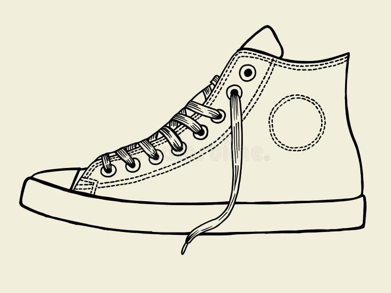 El deporte calza bosquejo libre illustration