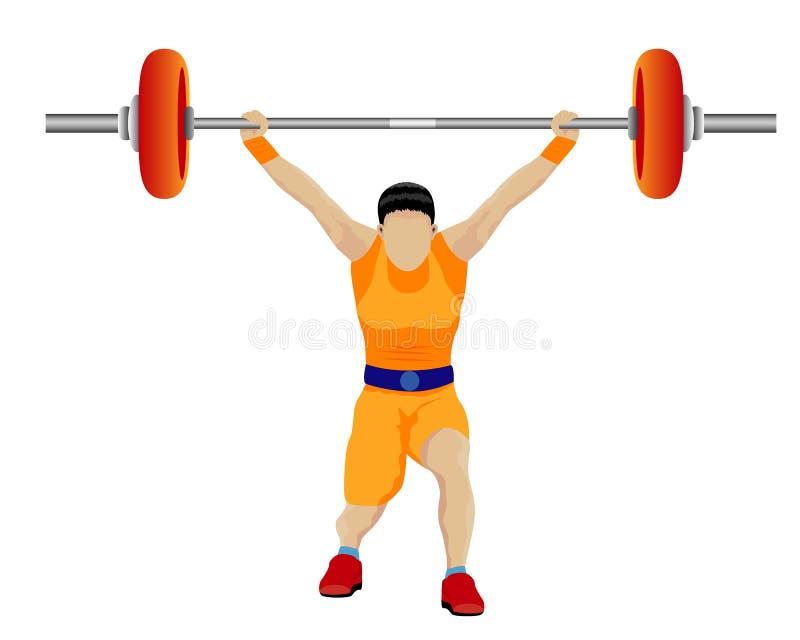 El deporte del levantamiento de pesas libre illustration