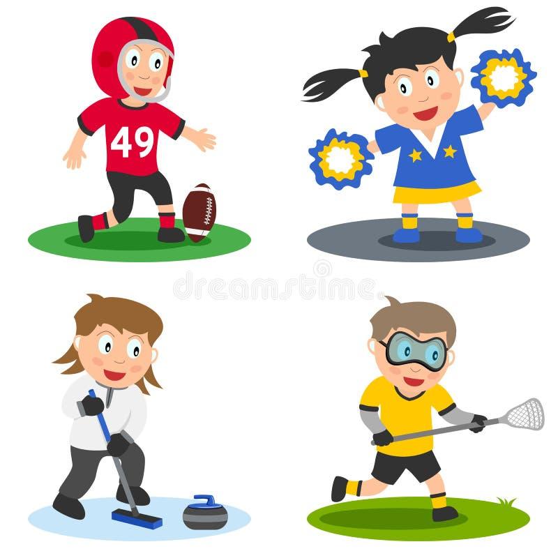 El deporte embroma la colección [6] ilustración del vector