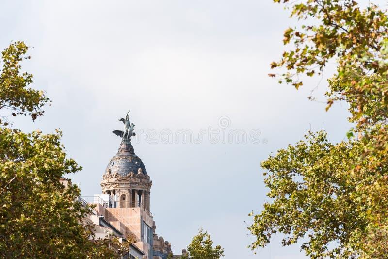 EL des syndicats y de La Fenix Barcelone - Passeig de Gracia - Barcelones photo stock