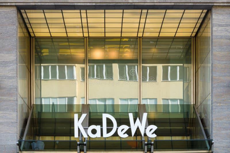 El DES Westens (KaDeWe) de Kaufhaus fotografía de archivo