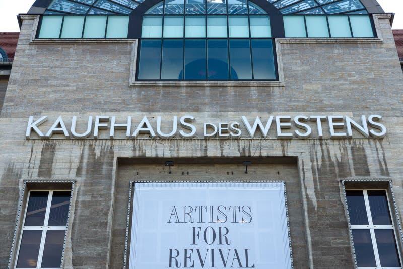 El DES Westens (KaDeWe) de Kaufhaus imágenes de archivo libres de regalías