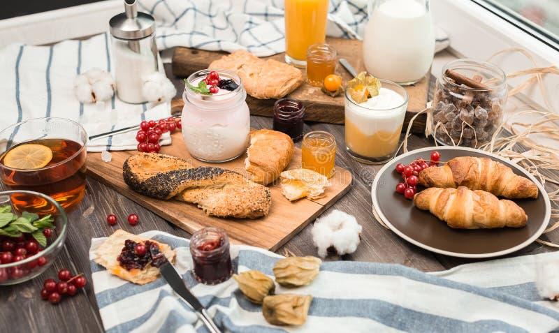 El desayuno fresco fotografía de archivo