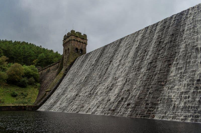 El desbordar de la presa de Derwent imágenes de archivo libres de regalías