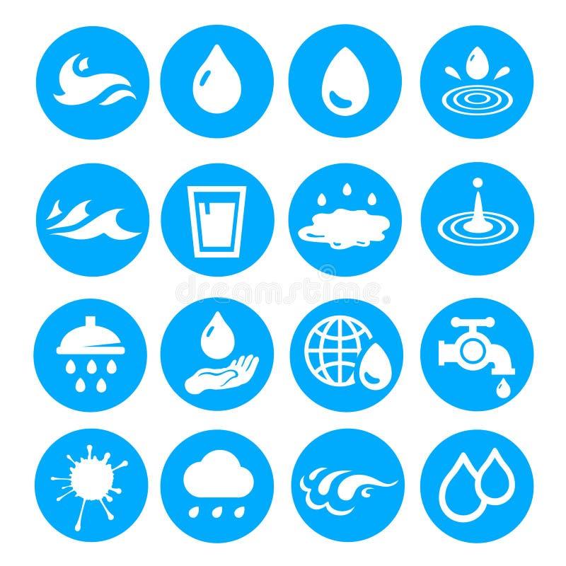 El descenso del agua forma la colección Sistema del icono del vector libre illustration
