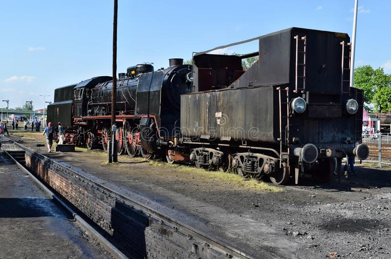 El desfile anual sobre las locomotoras de vapor en Wolsztyn, Polonia fotografía de archivo