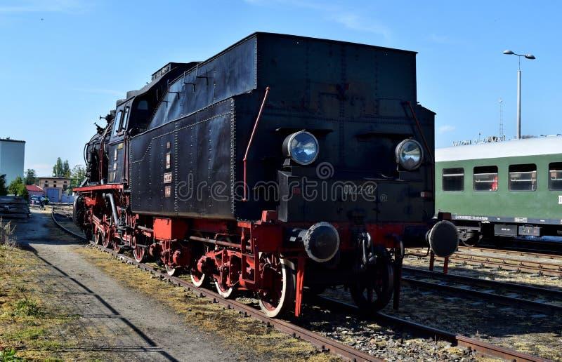 El desfile anual sobre las locomotoras de vapor en Wolsztyn, Polonia imagen de archivo