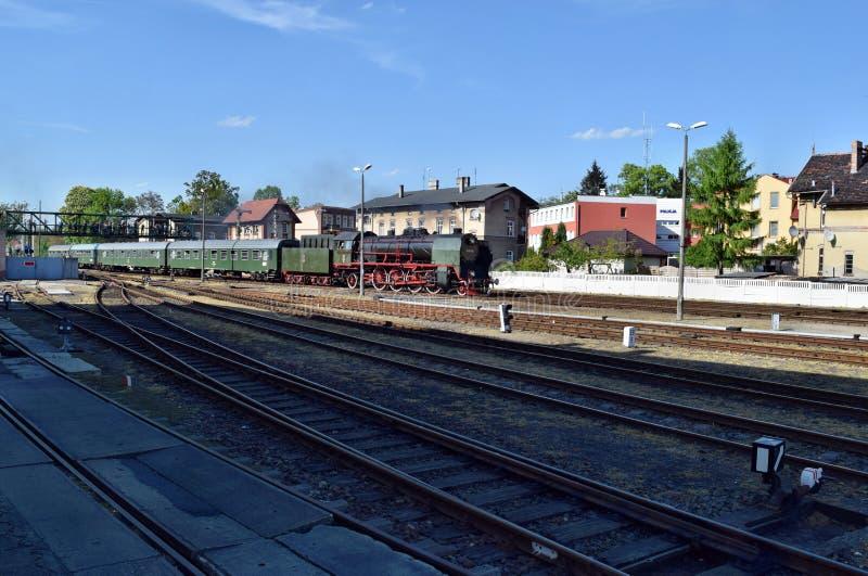 El desfile anual sobre las locomotoras de vapor en Wolsztyn, Polonia foto de archivo libre de regalías