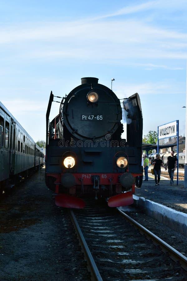 El desfile anual sobre las locomotoras de vapor en Wolsztyn, Polonia imagen de archivo libre de regalías