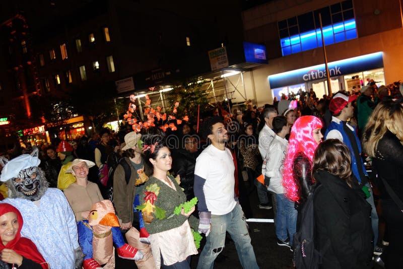 El desfile 2014 de Halloween del pueblo 91 imagen de archivo libre de regalías