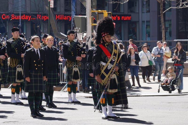 El desfile 5 del día del tartán de 2015 NYC fotografía de archivo libre de regalías