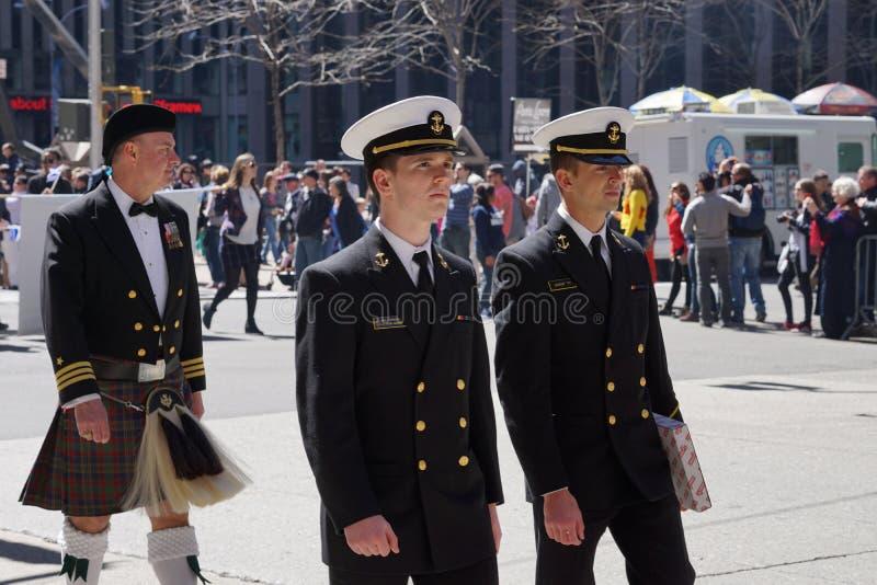 El desfile 9 del día del tartán de 2015 NYC fotografía de archivo libre de regalías