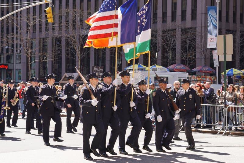 El desfile 80 del día del tartán de 2015 NYC fotografía de archivo libre de regalías
