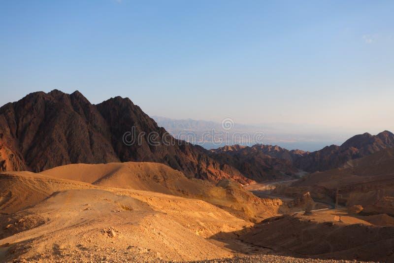 El desierto Sinaí y Mar Rojo imagenes de archivo