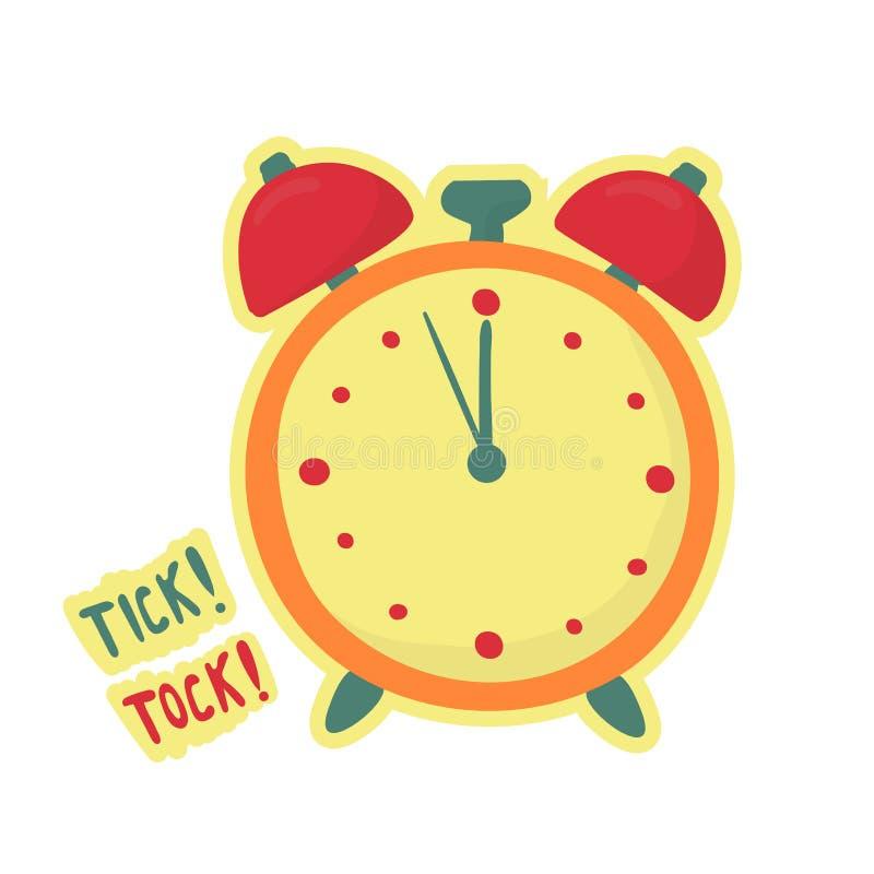 El despertador hace el tock de la señal Símbolo de última hora El tiempo ha terminado libre illustration