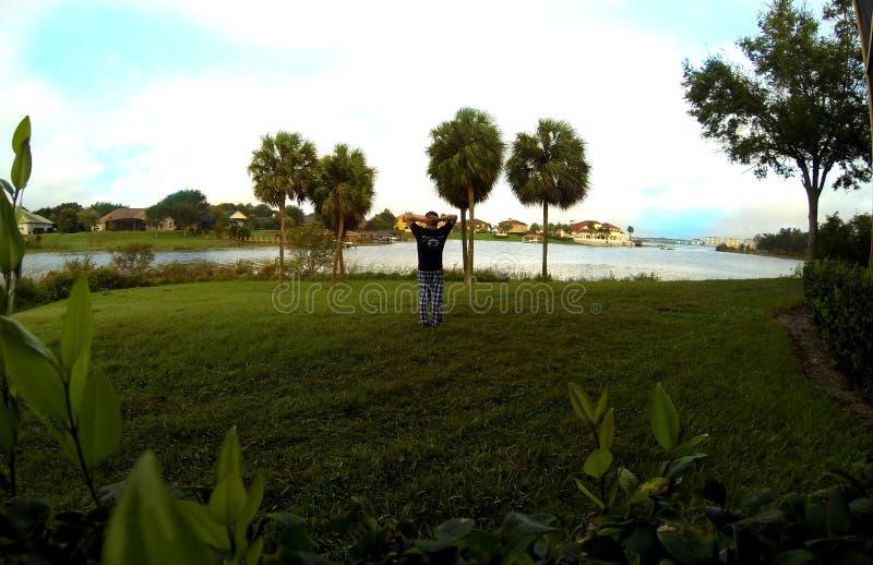 El despertar con una opinión del lago en Westgate recurre foto de archivo libre de regalías
