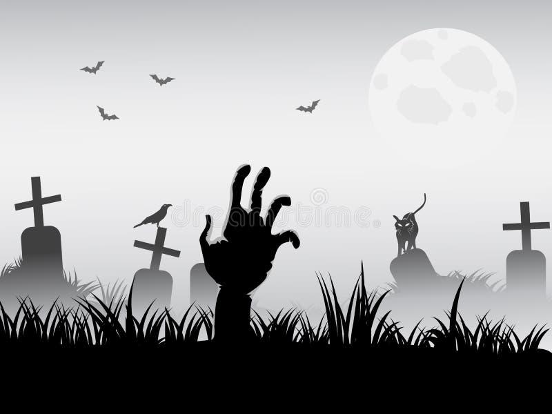 El despertar del zombi ilustración del vector