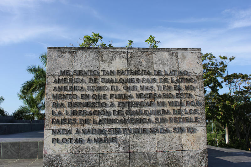 El _Detail de Che Guevara Mausoleum imagenes de archivo
