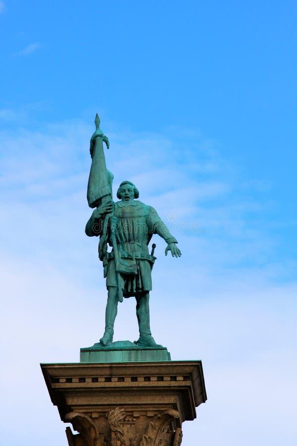 El detalle de Amasing en el edificio antiguo en Estocolmo utilizó como ciudad hal imagenes de archivo