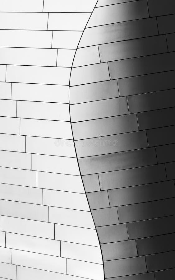 El detalle de Fondation Louis Vuiton diseñó por el arquitecto Frank Gehry foto de archivo