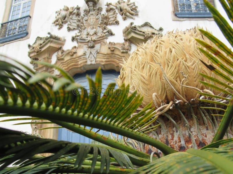 El detalle del portal del Nossa Senhora hace la iglesia de Carmen en Ouro Preto fotografía de archivo libre de regalías