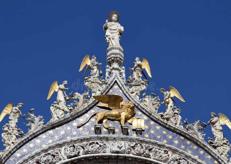 St Mark y ángeles, Venecia fotografía de archivo