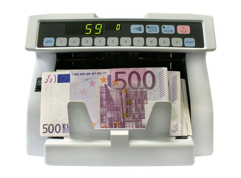 El detector de billetes de banco fotografía de archivo