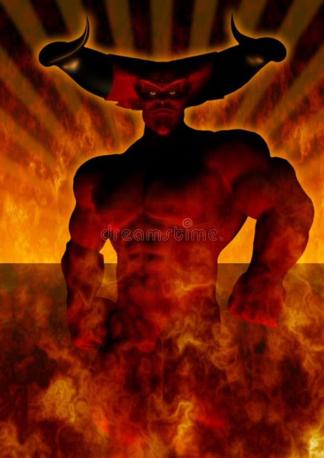 El diablo stock de ilustración