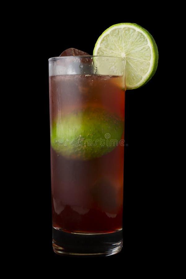 EL Diablo Drink contro un fondo nero fotografia stock libera da diritti