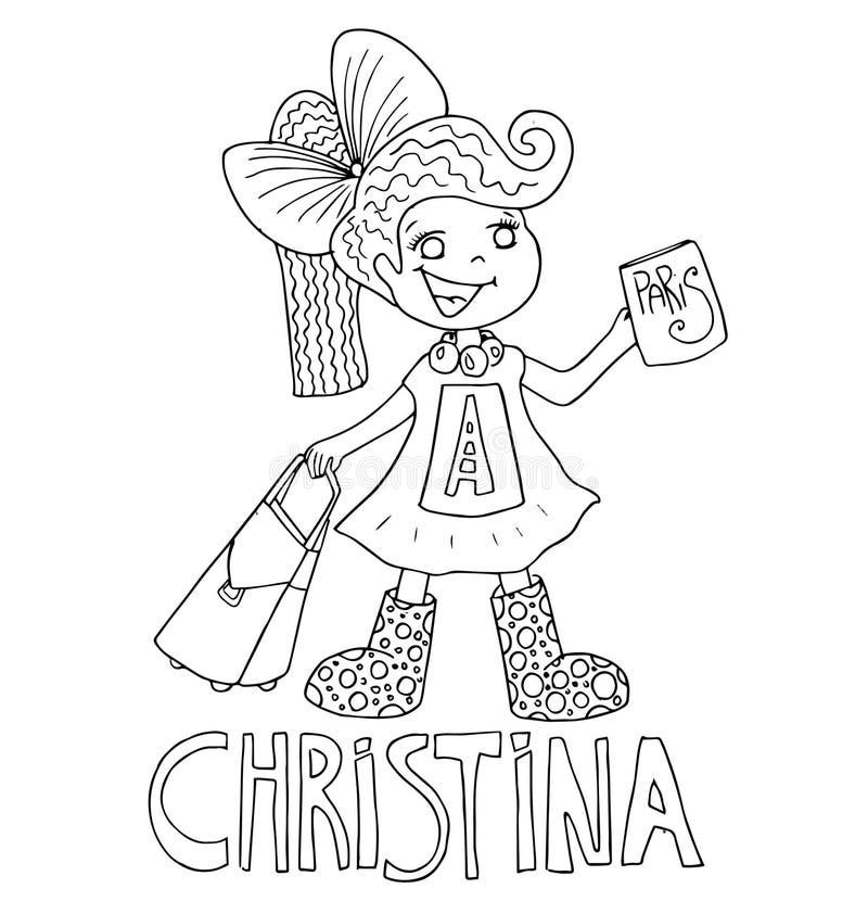 El Dibujo De Esquema Simple Para Colorear Con La Imagen De Niños De ...