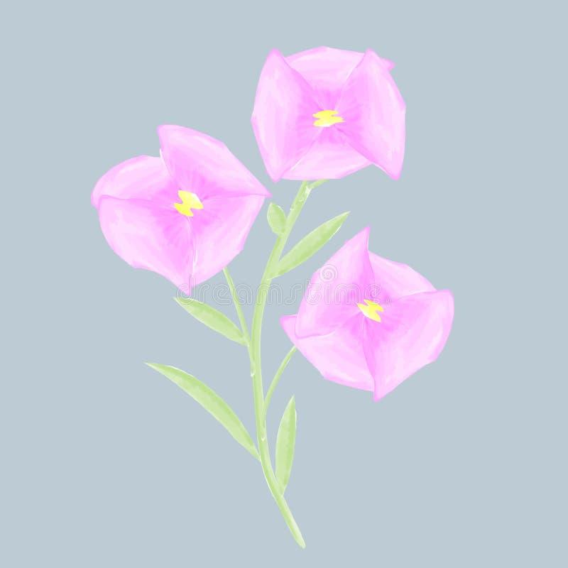 El dibujo de flores, el mundo de los niños a través de los ojos de un niño libre illustration