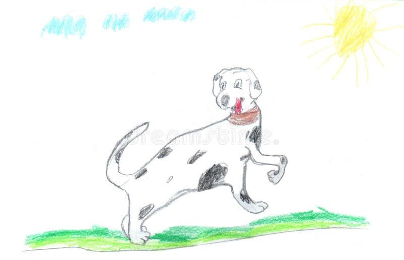 ¡El dibujo de los niños buenas fiestas! fotos de archivo libres de regalías