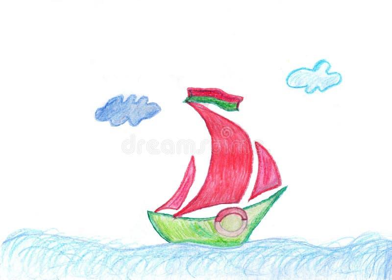 ¡El dibujo de los niños buenas fiestas! fotografía de archivo libre de regalías