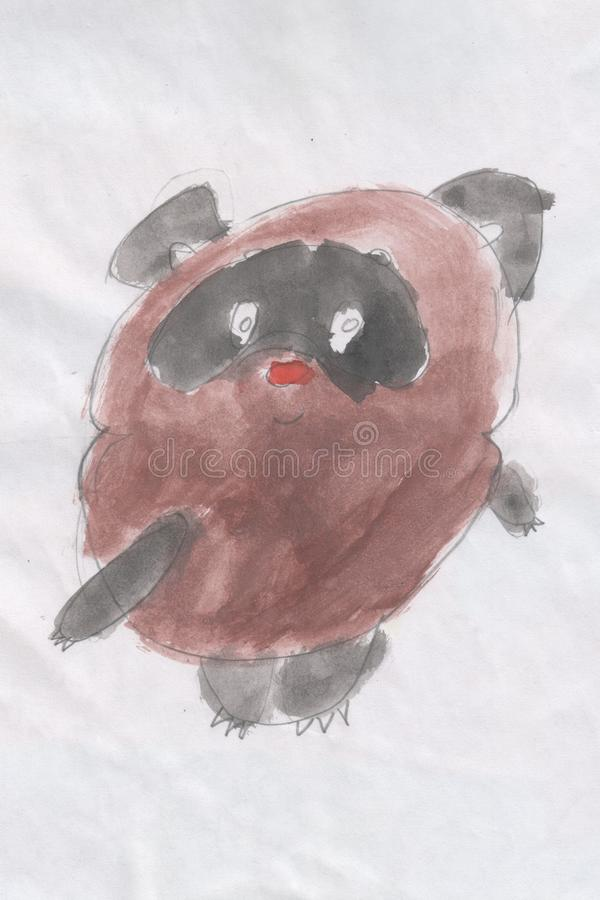 El dibujo de los niños - cachorro de oso imagen de archivo libre de regalías