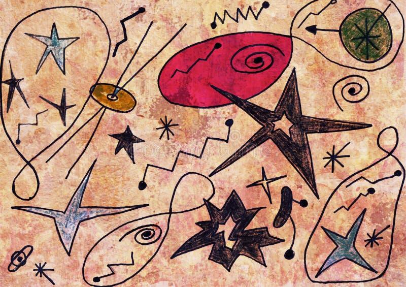 El dibujo del niño colorido stock de ilustración