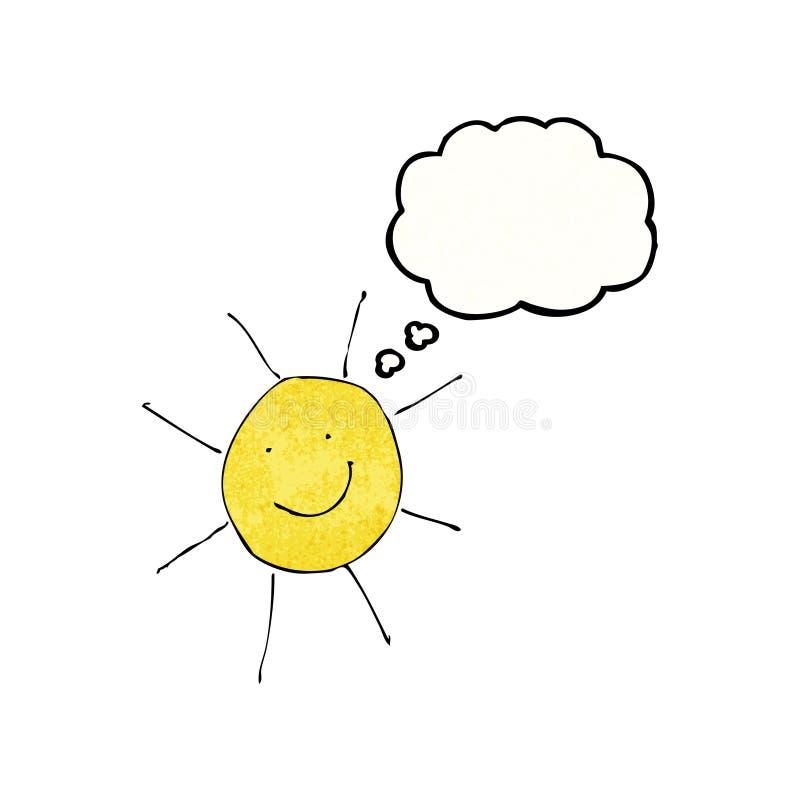 el dibujo del niño del tiempo soleado libre illustration