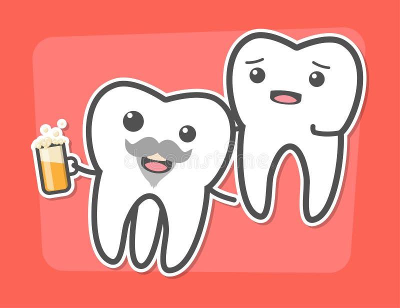 El diente de sabiduría causa concepto del dolor ilustración del vector