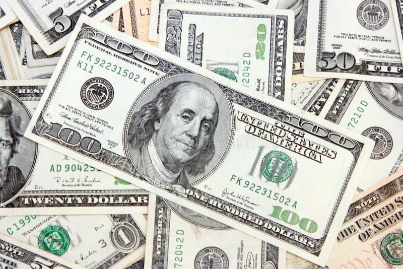 El dinero americano imagen de archivo