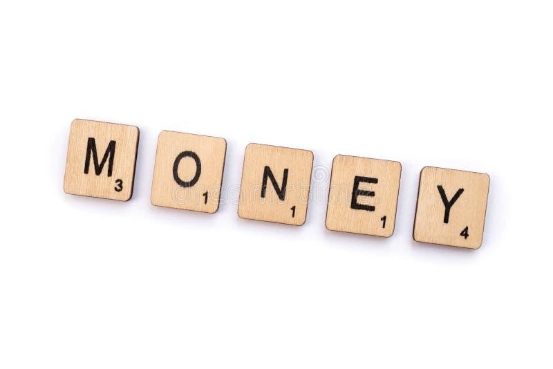El dinero de la palabra fotografía de archivo libre de regalías