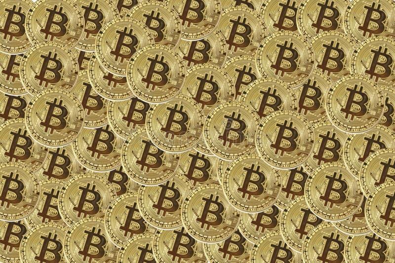 El dinero electrónico de Bitcoin acuña el fondo imágenes de archivo libres de regalías