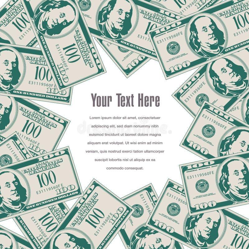 El dinero enmarca este espacio para su texto libre illustration