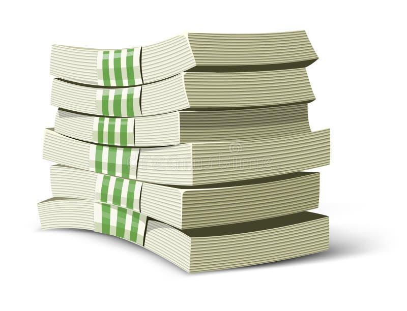 El dinero pila de discos la ilustración del vector para las actividades bancarias ilustración del vector